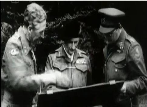 Brian Horrocks, Field Marshal Montgomery and former SS officer Prince Bernhard of the Netherlands