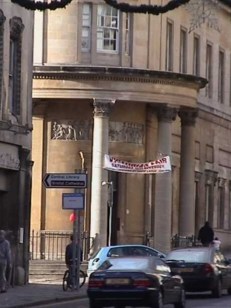 Entrance to Bristol Freemasons Hall, Park Street