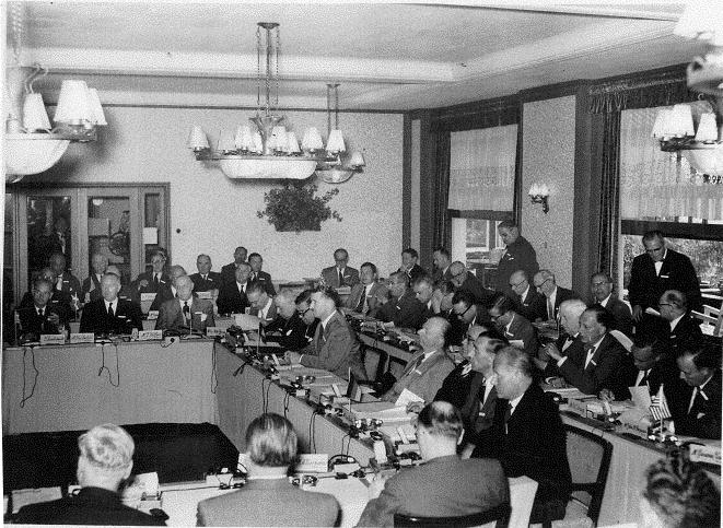 A rare photograph of the first Bilderberg meeting in 1954