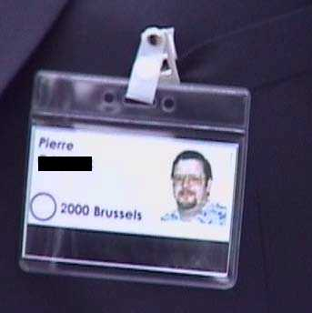 Security Badge - Brussels 2000