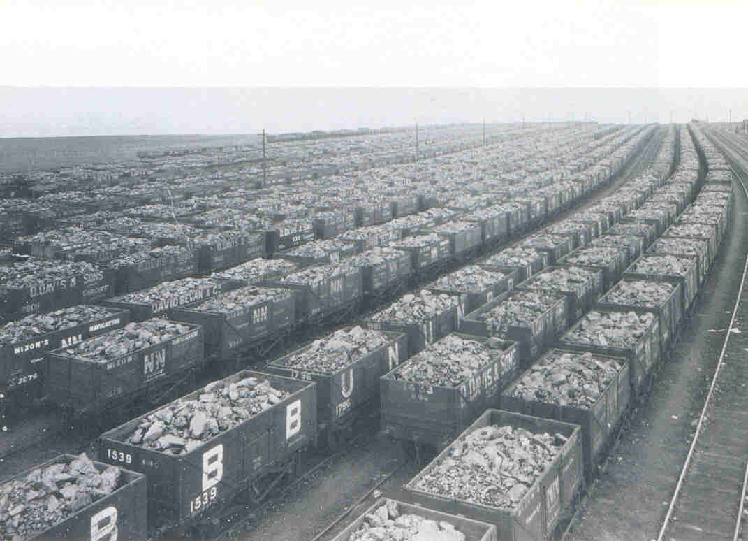 Welsh Steam Coal wagons are at Cardiff Docks in 1927