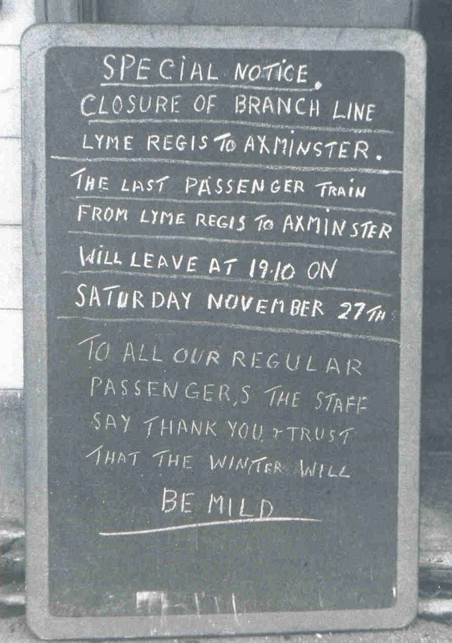 closure notice is for november 1965 - photo John A. M. Vaughan