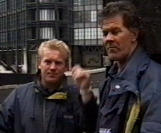 two dodgey looking geezers hanging around outside the old bailey during Shayler's trial