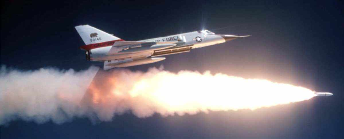 F106 test firing AIR2a nuclear air to air missile