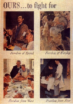 Norman Rockwell World War II propaganda