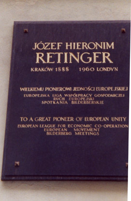 Retinger's gravestone in Poland
