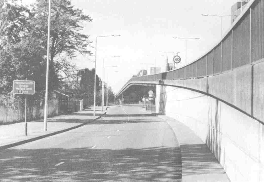 The Hammersmith Flyover just after it opened