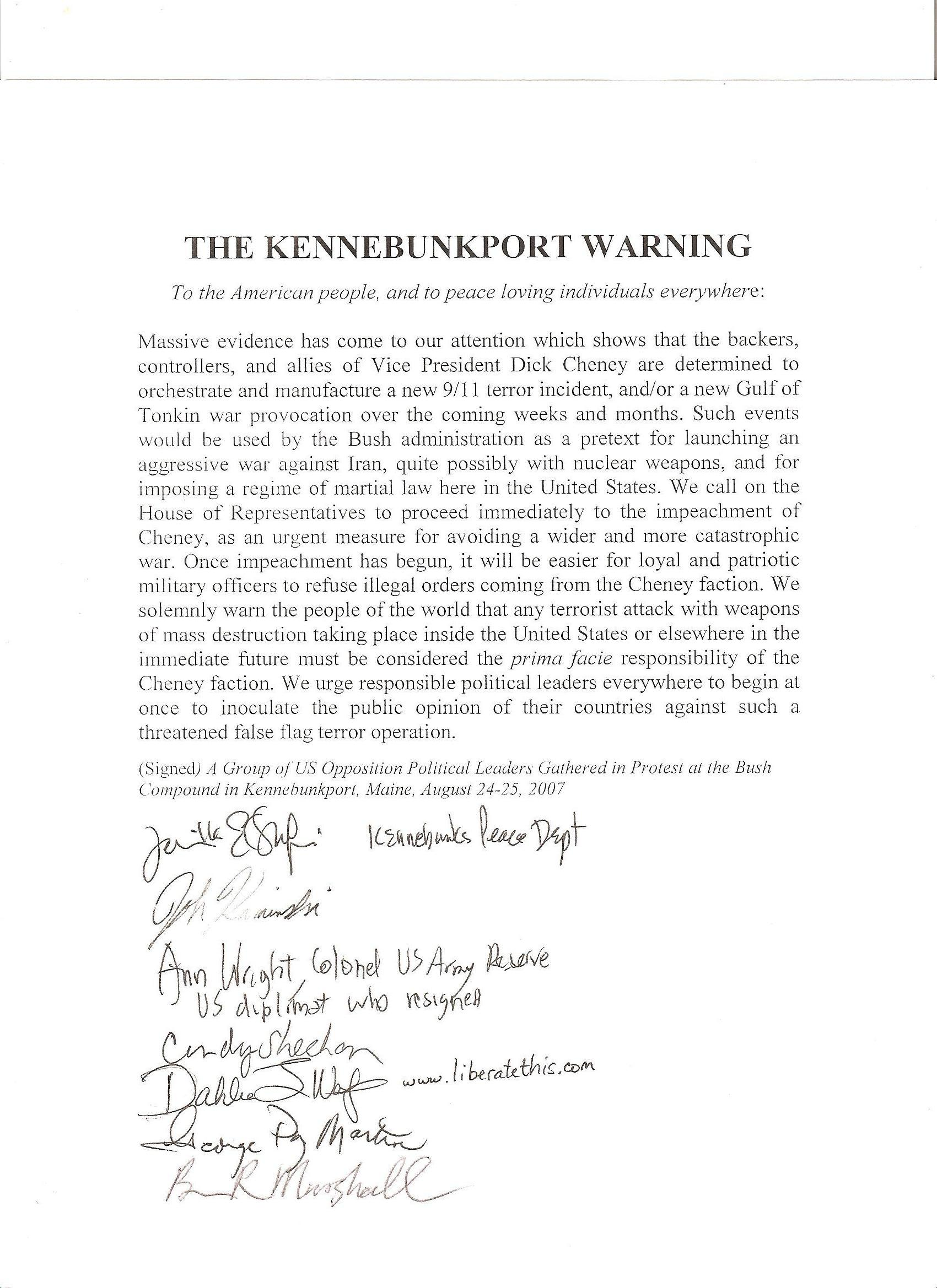 Kennebunkport Warning