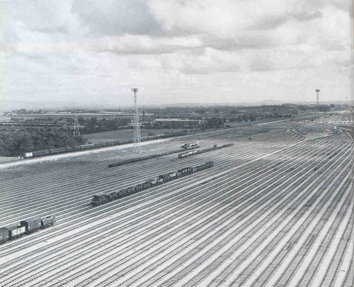Carlisle Kingmoor marshalling yards in 1963 just after it opened