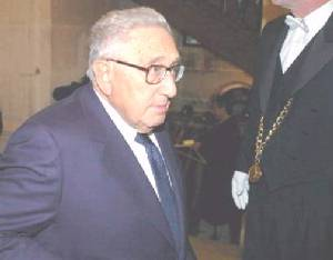 Kissinger - photographed attending a masonic ceremony 16th December 2004