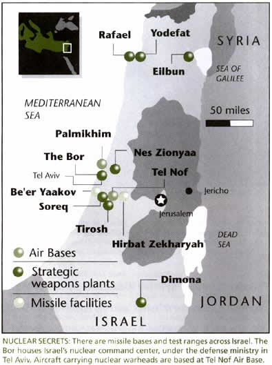 map of Israel's vast WMD network