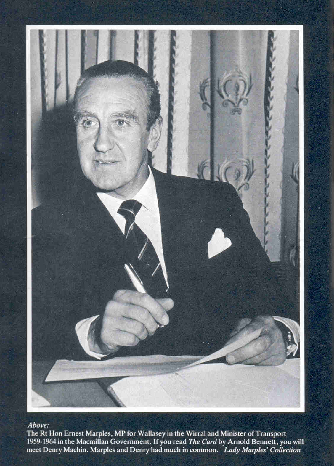 Ernest MArples - 1960's Tory Transport minister and owner of road construction company Marples Ridgeway