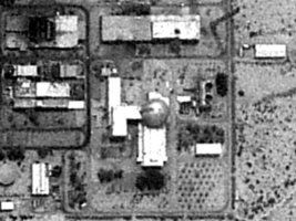 the Dimona reactor itsself - from satellite photo