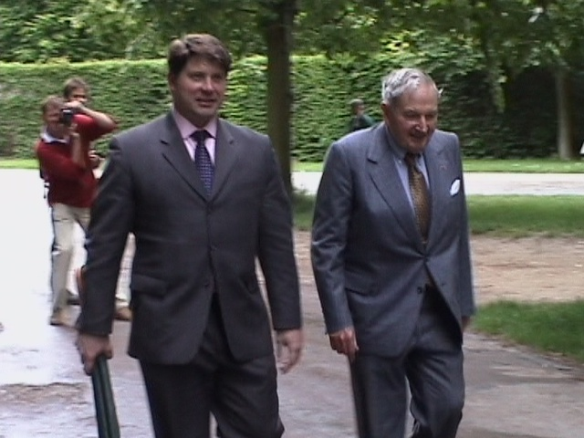 David Rockefeller (on the right) Versailles 17May03