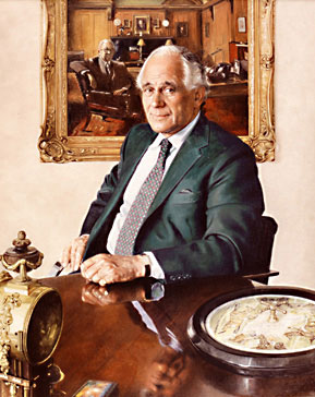 Sir Evelyn de Rothschild - painted by Richard Stone